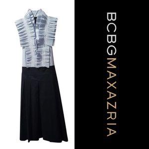 BCBGMAXAZRIA Ruffle Neck Sleeveless Dress